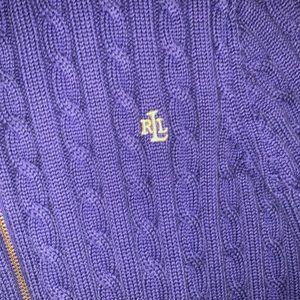 Polo Ralph Lauren zip up turtleneck sweater